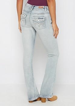 Vintage Embroidered Pocket Boot Jean