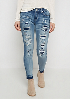 Flex Torn & Released Hem Jegging