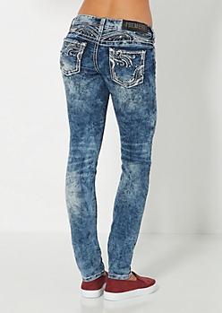 Embellished Crackled Skinny Jean