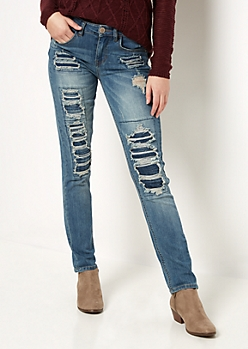 Flex Destroyed & Repaired Skinny Jean