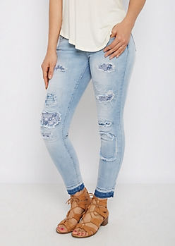 Ripped Bandana Patched Jegging