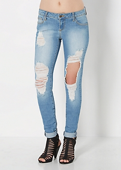 Extreme Ripped Skinny Jean
