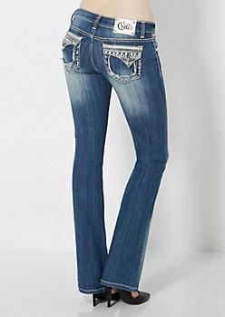 Vintage Pearlescent Embellished Boot Jean