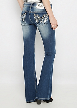 Crystal Wings Slim Boot Jean