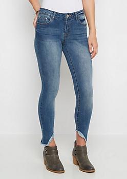 Vintage Angled & Frayed Cuff Skinny Jean