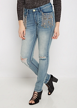 Flex Charm Chained Skinny Jean