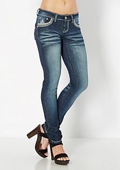 Embellished Pocket Skinny Jean