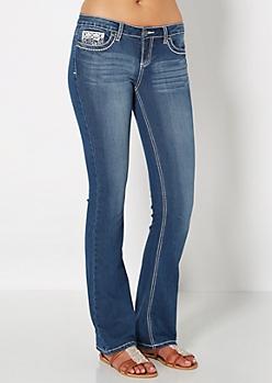 Embellished Wings Slim Boot Jean