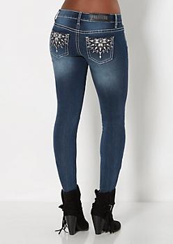 Crystal Starburst Skinny Jean