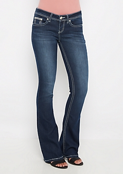 Angel Wing Pocket Slim Boot Jean