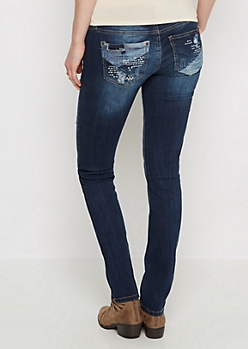 Vintage Ripped & Patched Skinny Jean