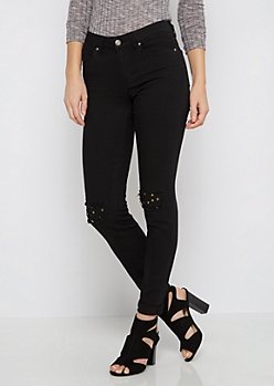 Studded Patch Black Jegging by Sadie Robertson x Wild Blue