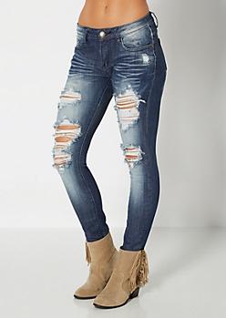 Distressed Vintage Skinny Jean