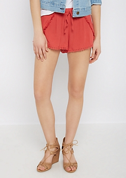 Red Tasseled Tulip Short