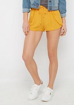 Mustard Tasseled Tulip Short
