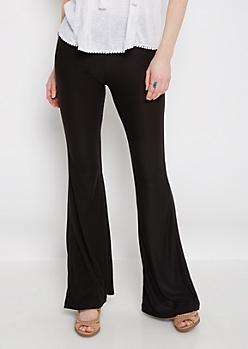 Black Flare Knit Pant