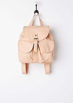 Pink Double Pocket Mini Backpack