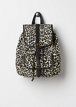 Canvas Leopard Backpack