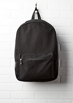 Black Canvas Pouch Backpack