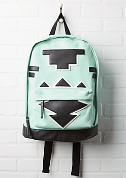 Aztec Faux Leather Pouch Backpack