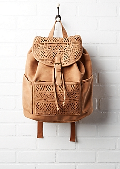 Geo Cut-Out Bucket Backpack