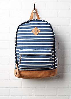 Nautical Striped Backpack