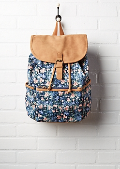 Mini Floral Drawstring Backpack