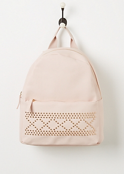 Pink Studded Backpack