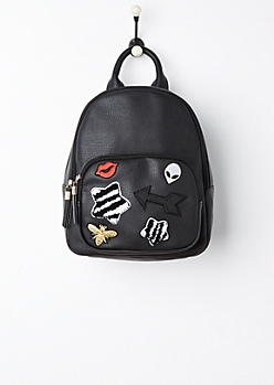 Graphic Patch Mini Backpack
