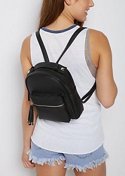Studded Tassel Mini Backpack