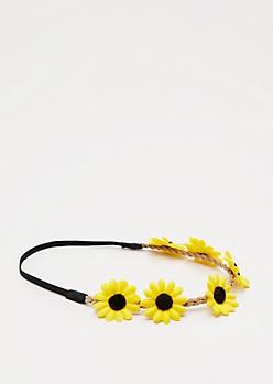 Yellow Daisy Crown