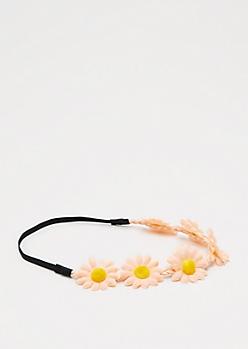 Peach Daisy Crown