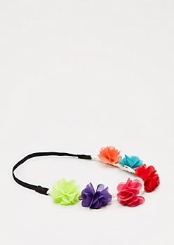 Multi Chiffon Flower Crown