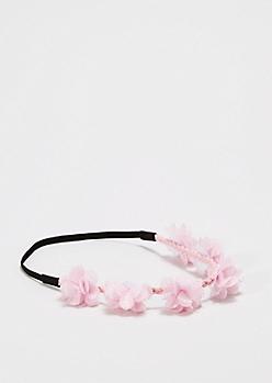 Light Pink Full Bloom Flower Crown