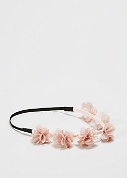 Peach Full Bloom Flower Crown