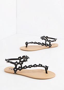 Black Daisy Climber Sandal