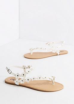 White Daisy Climber Sandal