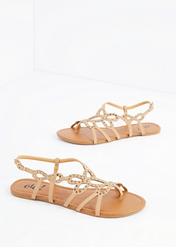 Tan Swirling Stone Sandal