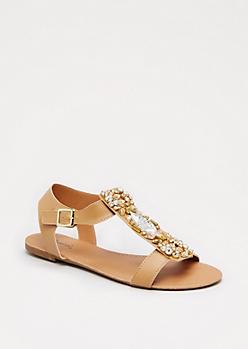 Tan Stone Sandal By Qupid®