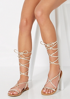 Gold Wrapped Gladiator Sandal