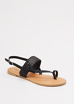 Braided Toe Strap Sandal by Qupid®