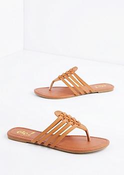 Tan Huarache Flip Flop