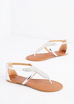Silver Stone T-Strap Sandal