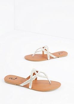 Silver Geo Stone Sandal
