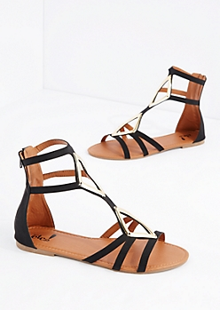 Black Diamond Strappy Sandal