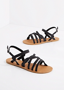 Black Braided Strap Sandal