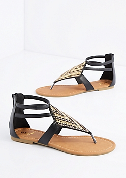 Beaded Medallion Sandal