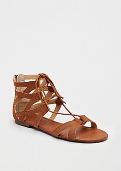 Cognac Caged Gladiator Sandal By Celebrity Pink®