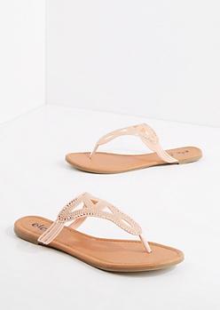 Pink Studded Geo Sandal