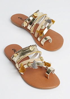 Boho Coin Strappy Sandal
